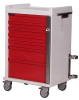 MR-Conditional Seven Drawer Emergency Cart Standard Pac.. -- MR7B -- View Larger Image