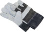 12 Pair Split Leather Work Gloves -- 8004872 - Image