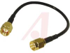RF Coax Cable Assembly, RG174/U 50 Ohm Cable, SMA/SMA Male/Male Connectors, 6