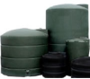 1100 Gallon Snyder Vertical Water Storage Tank - Green -- SII-WG44