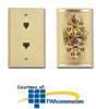 Allen Tel Duplex Wall Jack With 2 Integral Jacks -- AT268 - Image