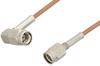 SSMA Male to SSMA Male Right Angle Cable 24 Inch Length Using RG178 Coax, RoHS -- PE36571LF-24 -Image