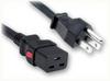 NEMA 5-15P to IEC-60320-C19 AUTO-LOCK HOME • Power Cords • North American Power Cords • Auto-Lock® Power Cords -- 5050.024AL -Image