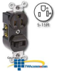 Leviton Leviton 3-Way Switch/Receptacle (Non-Grounding.. -- 5245