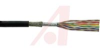 cable,round twist and flat,jacketed/shielded,color coded,25 pair,28awg stranded -- 70111260