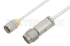 3.5mm Male to 1.85mm Male Cable 36 Inch Length Using PE-SR405FL Coax, RoHS -- PE36537LF-36 -Image