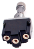NT Series Toggle Switch, 1 pole, 2 position, Screw terminal, Locking Lever -- 1NT1-2D