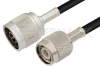 N Male to TNC Male Cable 48 Inch Length Using RG8X Coax -- PE37357-48 -Image