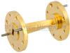 WR-19 45 Degree Waveguide Right-hand Twist Using a UG-383/U-Mod Flange And a 40 GHz to 60 GHz Frequency Range -- SMW19TW1003 - Image