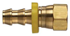 Brass Push-on Fitting - Female JIC 37 Degree Swivel - Image