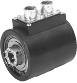 Slip ring assemblies offered with 4, 8, or 12 channel versions. These are self contained units used for signal transfer.The rings are supported through shielded ball bearings by the slip ring housing.