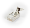 CAT6A RJ-45 MODULAR PLUG, SHIELDED 10-PACK -- FMTP6AS-10PAK -- View Larger Image