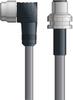 LAPP UNITRONIC® Devicenet™ Thin Panel Mount Extension Cordset - 5 positions male 7/8 inch 90° to 5 positions male M12 bulkhead - Continuous Flex - Gray PVC - 1m -- OLFDN4110086F01 -Image