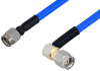 SMA Male to SMA Male Right Angle Cable 36 Inch Length Using PE-141FLEX Coax, RoHS -- PE3CA1036-36 -Image