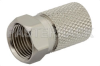 75 Ohm F Male Connector Twist Attachment For RG6 -- PE44314
