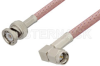 SMA Male Right Angle to BNC Male Cable 24 Inch Length Using RG303 Coax -- PE39138-24 -Image