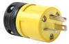 Pass & Seymour® -- Rubber Housing Plug, Yellow - 1433P - Image