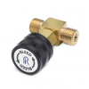 Male Quck x male Quick-test in-line vent valve, brass -- QTHA-TVLB