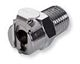 Coupling Body, Straight Thru, Chrome-Plated Brass in-line Pipe Thread -- MC1002