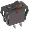 Switch, Rocker, Miniature, SPDT, ON-ON,16A, BLACK HOUSING -- 70128127 - Image