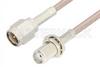 SMA Male to SMA Female Bulkhead Cable 12 Inch Length Using RG316 Coax -- PE3835-12 -Image