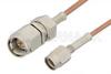 SMA Male to SSMA Male Cable 6 Inch Length Using RG178 Coax -- PE3058-6 -Image