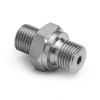 """G 3/8"""" male BSPP (ISO 228/1) x male Quick-test, no check-valve, S.S. -- XTHA-3MS0-RS -- View Larger Image"""