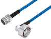 Plenum 4.3-10 Female to 7/16 DIN Male Right Angle Low PIM Cable 50 cm Length Using SPP-250-LLPL Coax Using Times Microwave Parts -- PE3C6235-50CM -Image