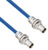 Halogen Free Cable Assembly TRB Non-Insulated Bulk Head 3-Lug Cable Jack to Jack MIL-STD-1553 .242
