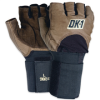 Half-Finger Impact Gloves w/ Wrist Support - Small -- GLV1028S -- View Larger Image