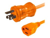 10ft 16 AWG Hospital Grade Power Extension Cord (NEMA 5-15P to NEMA 5-15R) - Orange -- 48073