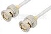 BNC Male to BNC Male Cable 18 Inch Length Using PE-SR402FL Coax -- PE3462-18 -Image