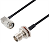 BNC Female Bulkhead to TNC Male Right Angle Cable Assembly using LC141TBJ Coax, 4 FT -- LCCA30528-FT4 -Image