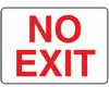 MADM486VA - Safety Sign, No Exit, 7