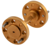 WR-5 45 Degree Waveguide Right-hand Twist Using a UG-387/U-Mod Flange and a 140 GHz to 220 GHz Frequency Range -- FMW5TW0000 - Image