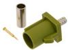 FAKRA Plug (Male) Connector for RG174, RG316, RG188, .100 inch, FM-B100, FM-C100, LMR-100, Crimp/Solder, Curry Color -- FMCN1349K -Image
