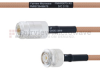 N Female to SMA Male MIL-DTL-17 Cable M17/128-RG400 Coax in 200 cm -- FMHR0075-200CM -Image