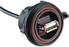 USB Buccaneer Front Panel Mount Connector IP68 type A -- 70099035
