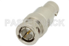 6 dB Fixed Attenuator, 75 Ohm BNC Male to 75 Ohm BNC Female Brass Nickel Body Rated to 2 Watts Up to 4 GHz -- PE7050-6 -Image