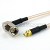 RA SMA Male to MMCX Plug Cable RG-316 Coax in 48 Inch -- FMC0409315-48 -Image