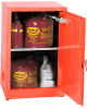 Flammable Liquid Safety Storage Manual Close Cabinet -- CAB130-RED