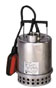 304 SS Submersible Dewatering Pump, Auto, Slim Float, 45 GPM; 115V -- GO-75504-55