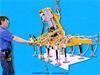 Sixteen Pad Electric Powered Vacuum Lifter with Powered Tilt -- ET36M16-86-4/44SP -Image