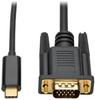 USB 3.1 Gen 1 USB-C to VGA Adapter Cable (M/M), Thunderbolt 3 Compatible, 1920 x 1200 (1080p), 3 ft. -- U444-003-V