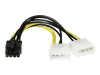 6IN LP4 TO PCIE 8PIN AUXILIARY POWER ADAPTER -- LP4PCIEX8ADP