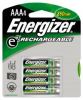 ENERGIZER RECHARGEABLE BATTERY AAA 4 PACK -- IBI455692