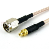 SMA Male to MMCX Plug Cable RG-316 Coax in 12 Inch -- FMC0209316-12 -Image