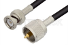 UHF Male to BNC Male Cable 60 Inch Length Using RG223 Coax, RoHS -- PE3803LF-60 -Image