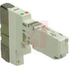 SOLENOID VALVE, BASE MT, 5 PORT, PLUG-IN TYPE, 24VDC, 3 POSITION CLOSED CENTER -- 70072056 - Image