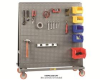 All-Welded Pegboard A-Frame Trucks -- HAFPB-2448-5PY -Image